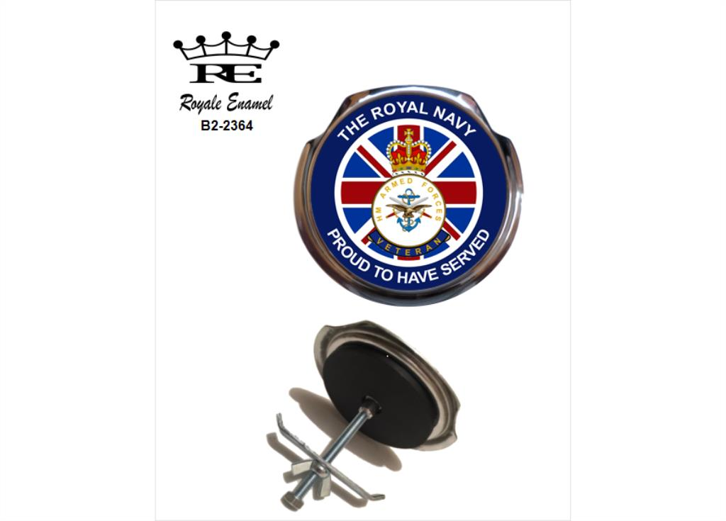 ROYALE CAR GRILL BADGE ROYAL MARINES PROUD  B2.2373