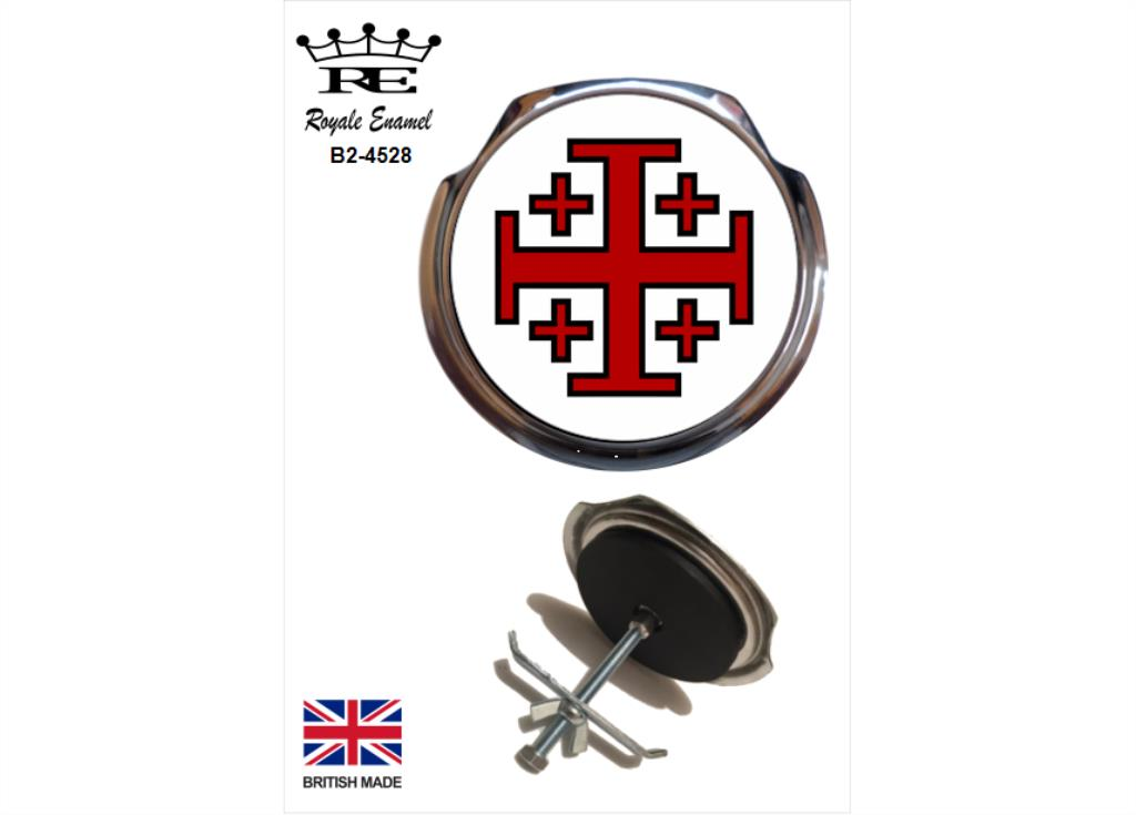 GLOUCESTERSHIRE COUNTY Royale Classic Car Grill Badge Fittings B2.1147