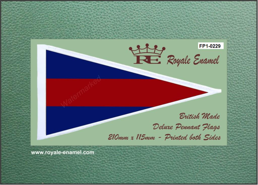FP1.0229 Royale Antenna Pennant Flag GUARDS COLOURS