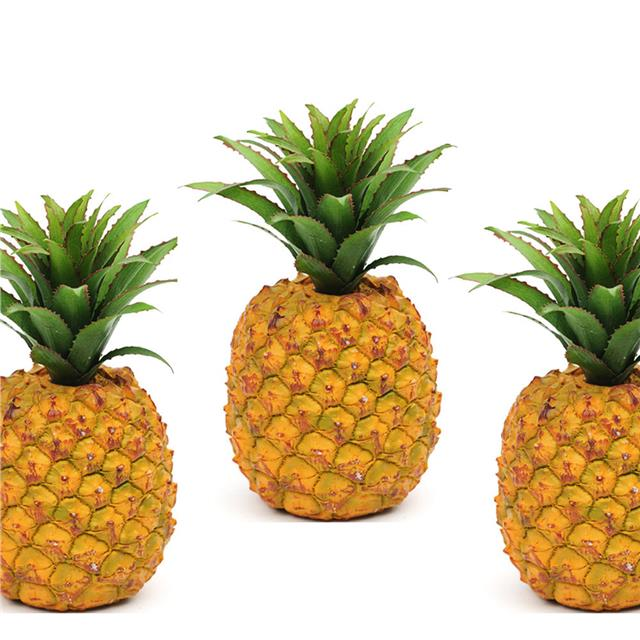 X3 Artificial Pineapple Fake Fruit Veg Decorative Plastic
