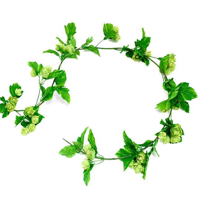Artificial hop garland vine decorative plastic for Artificial hops decoration