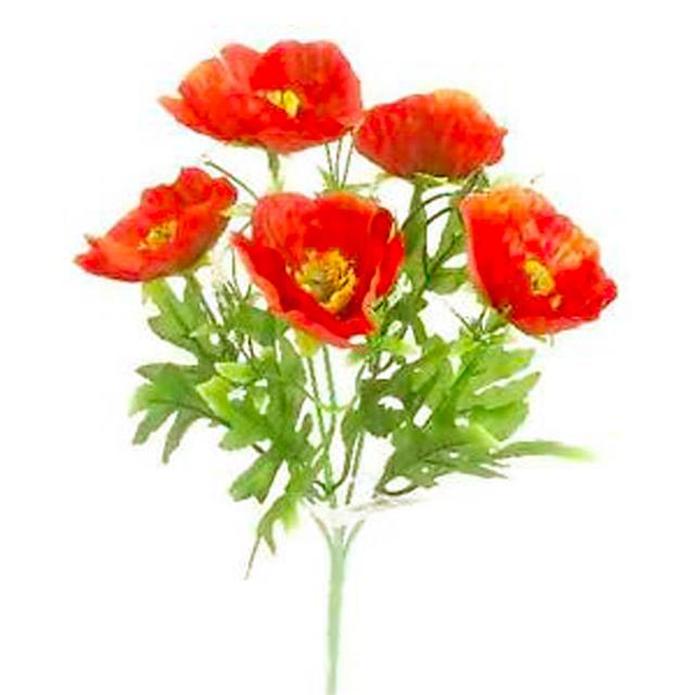 28cm artificial poppy bush red decorative poppy flowers 28cm artificial poppy bush red decorative poppy flowers remembrance poppies mightylinksfo