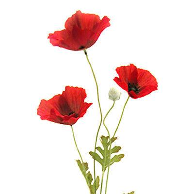 Artificial flame red poppy flower 63cm decorative plastic poppies artificial flame red poppy flower 63cm decorative plastic mightylinksfo
