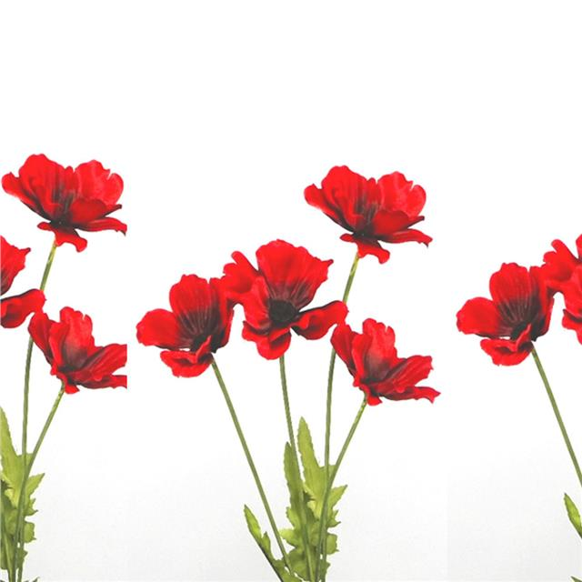 Artificial poppy flame red x3 stems decorative red silk poppies artificial poppy flame red x3 stems decorative red silk poppies poppy flowers mightylinksfo