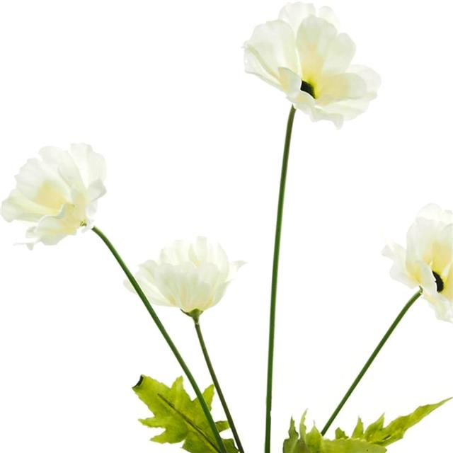 Artificial white poppy stem decorative silk poppies flowers ebay artificial white poppy stem decorative silk poppies flowers mightylinksfo