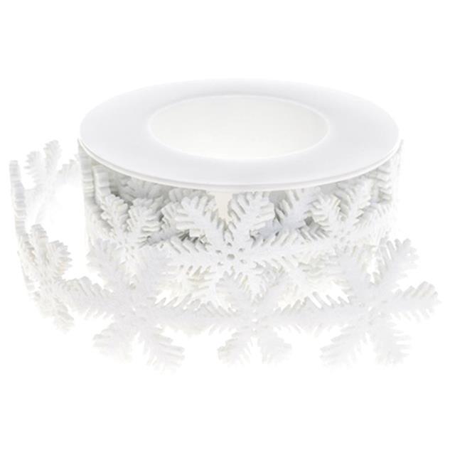 1.8m Snowflake Ribbon White Red Craft Embellishment DIY Christmas Ribbons