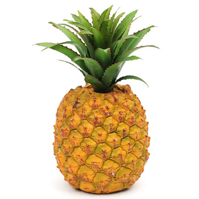 Artificial pineapple plastic decorative fake fruit for Artificial pears decoration