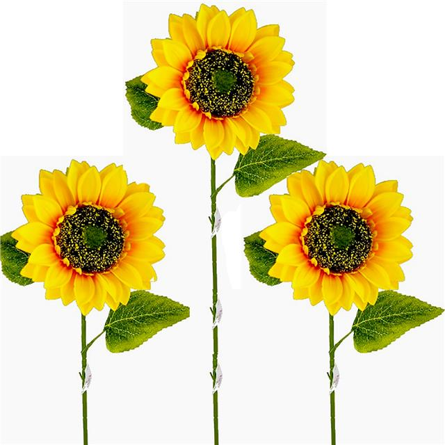Large Set of 3-3 Foot Tall Sunflower Stems