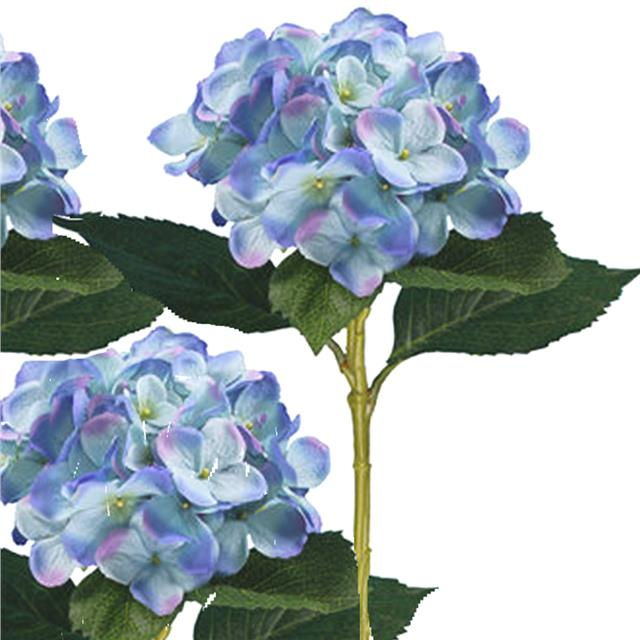 artificial 51cm large light blue hydrangea x3. Black Bedroom Furniture Sets. Home Design Ideas
