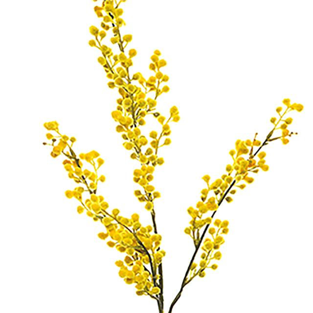 Artificial Mimosa Stem Spray Decorative Yellow Flowers Ebay