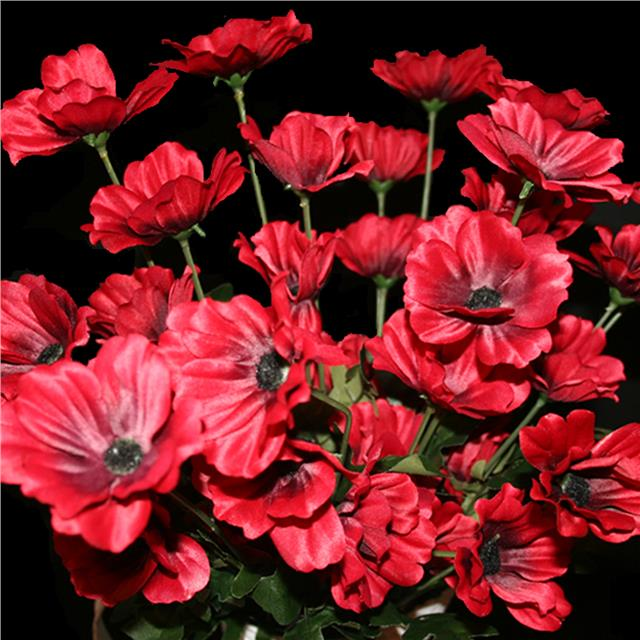 Artificial red poppy flower arrangement x20 poppies decorative artificial red poppy flower arrangement x20 poppies decorative silk flowers mightylinksfo