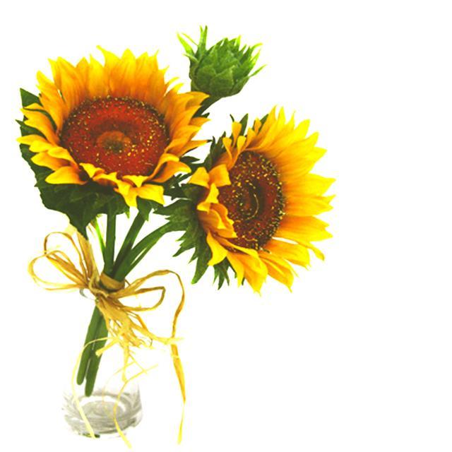 Artificial Sunflower Susan Bundle Yellow Decorative