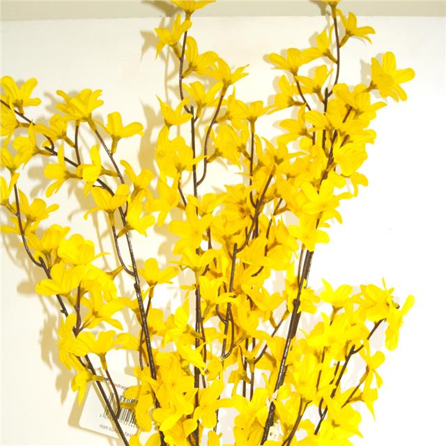 90cm Artificial Forsythia Stem Spray Decorative Yellow