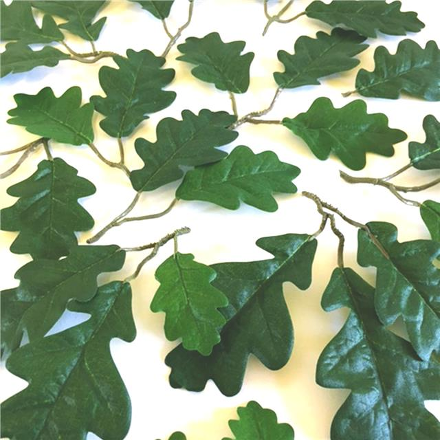 40 Artificial Large Oak Tree Leaves Decorative Oak Leaf