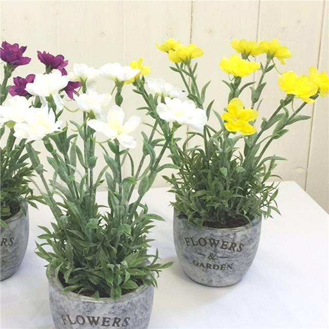 Artificial mini pinks dianthus flowers in decorative pot cream artificial mini pinks dianthus flowers in decorative pot mightylinksfo