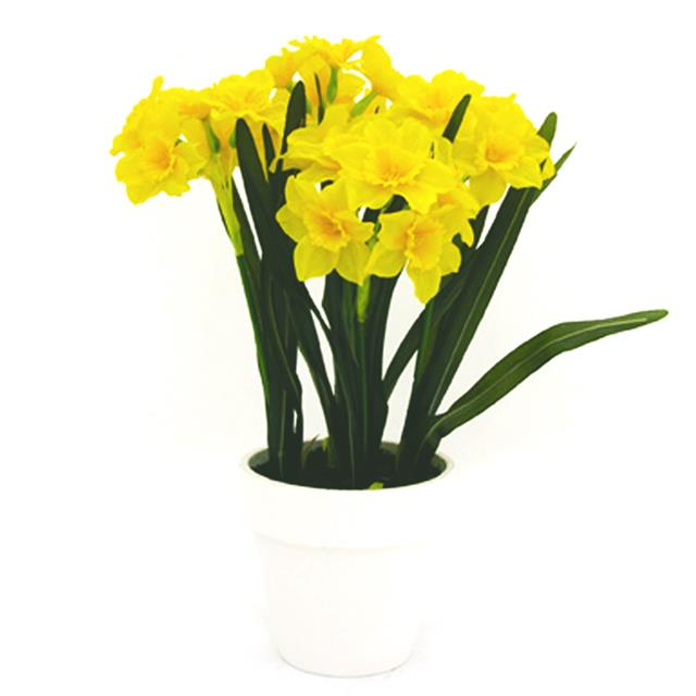 Artificial yellow daffodils in white pot decorative spring plants artificial yellow daffodils in white pot decorative spring plants flowers mightylinksfo