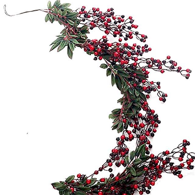 Artificial Red Berry Garland 1 8m Christmas Harvest Autumn Fake Garland 5050926548860 Ebay