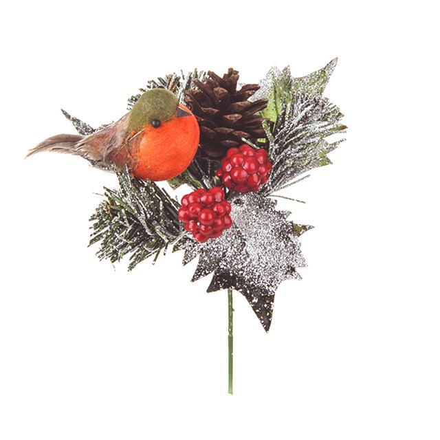 Robin Pine Cone Pick Christmas Picks And Decorations Ebay