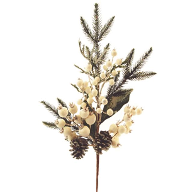 Christmas Sprays Uk.Details About Artificial Winterberry Spruce Spray White Christmas Foliage Decorations