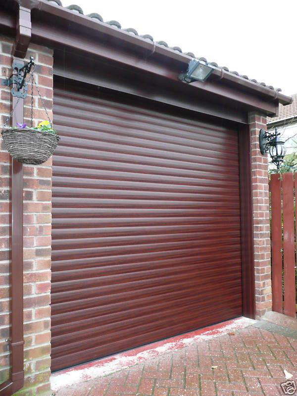 Red Electric Roller Shutter Garage Door Inc Safety Edge Full