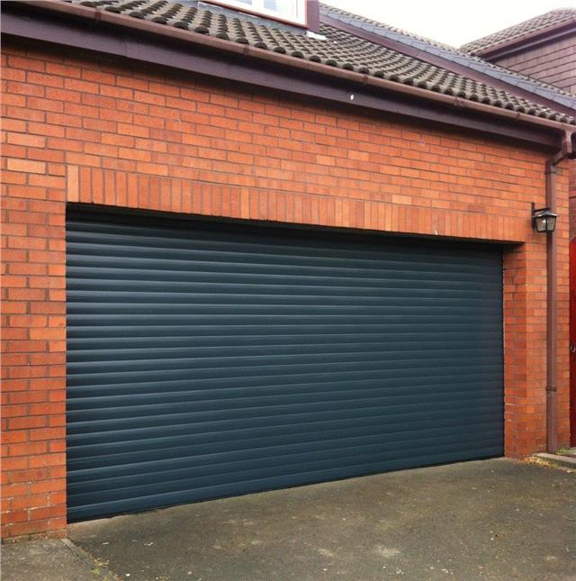 GOLDEN OAK Electric Insulated Roller GARAGE DOOR