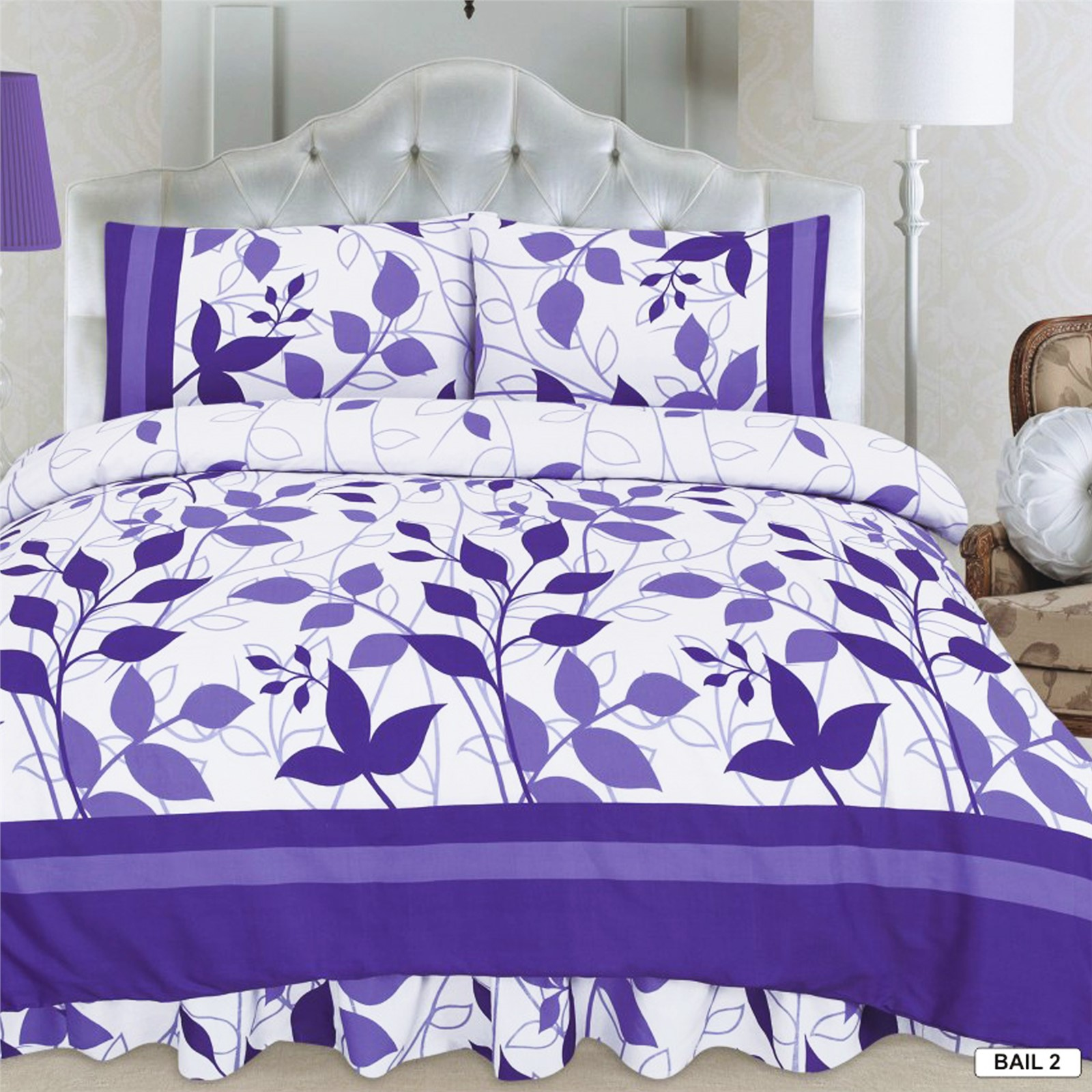 purple single bedding