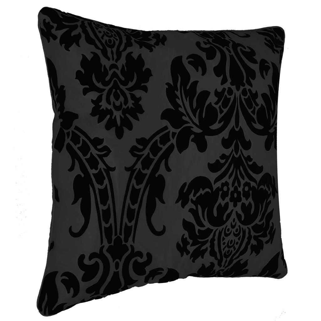 "NEW CUSHION COVER FLOCK DAMASK LUXURY CUSHION COVERS ALL COLOURS 18""X 18"""