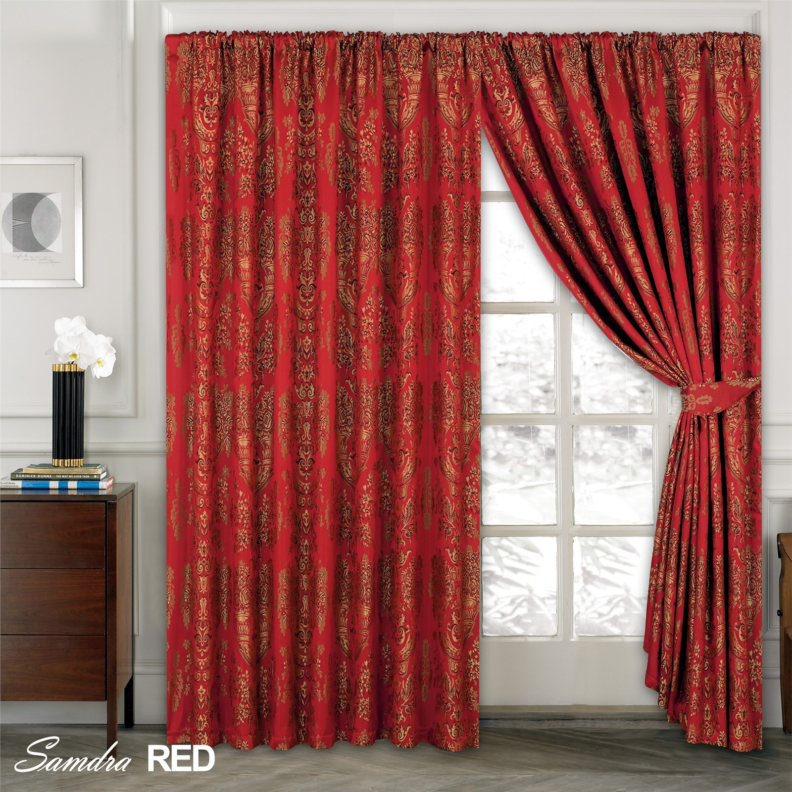 ready curtain sundour and plain curtains product lined steel made by crushed champagne velvet in top plush ring silk eyelet