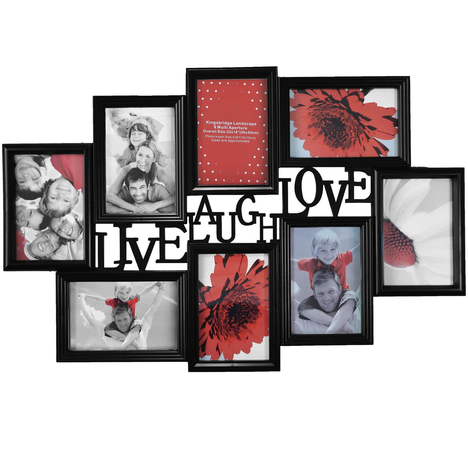 multi photoframe family love frames collage picture aperture wall photo frame ebay. Black Bedroom Furniture Sets. Home Design Ideas
