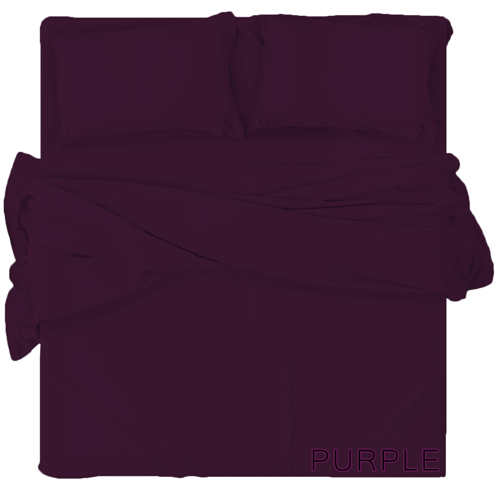 PLAIN FITTED BED SHEETS DYED 100% POLYCOTTON SINGLE DOUBLE