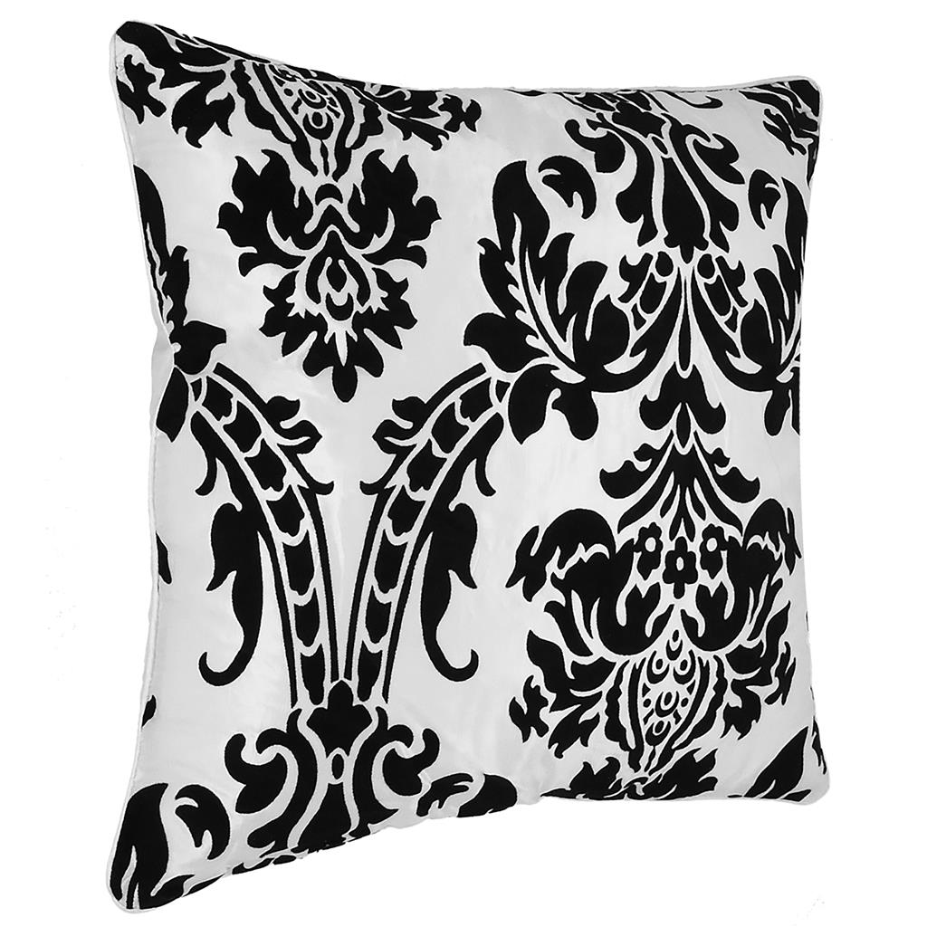 NEW CUSHION COVER FLOCK DAMASK LUXURY CUSHION COVERS ALL  : White Pillow from www.ebay.co.uk size 1024 x 1024 jpeg 143kB