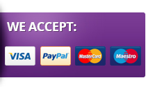 We Accept: Paypal