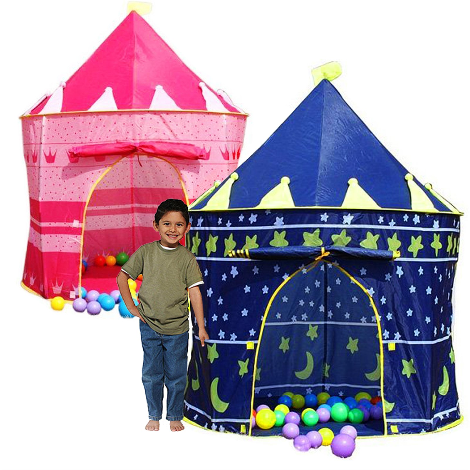 CHILDRENS KIDS POP UP CASTLE PLAYHOUSE GIRLS PRINCESS / BOYS WIZARD - PLAY TENT  sc 1 st  eBay : childrens play tents uk - memphite.com