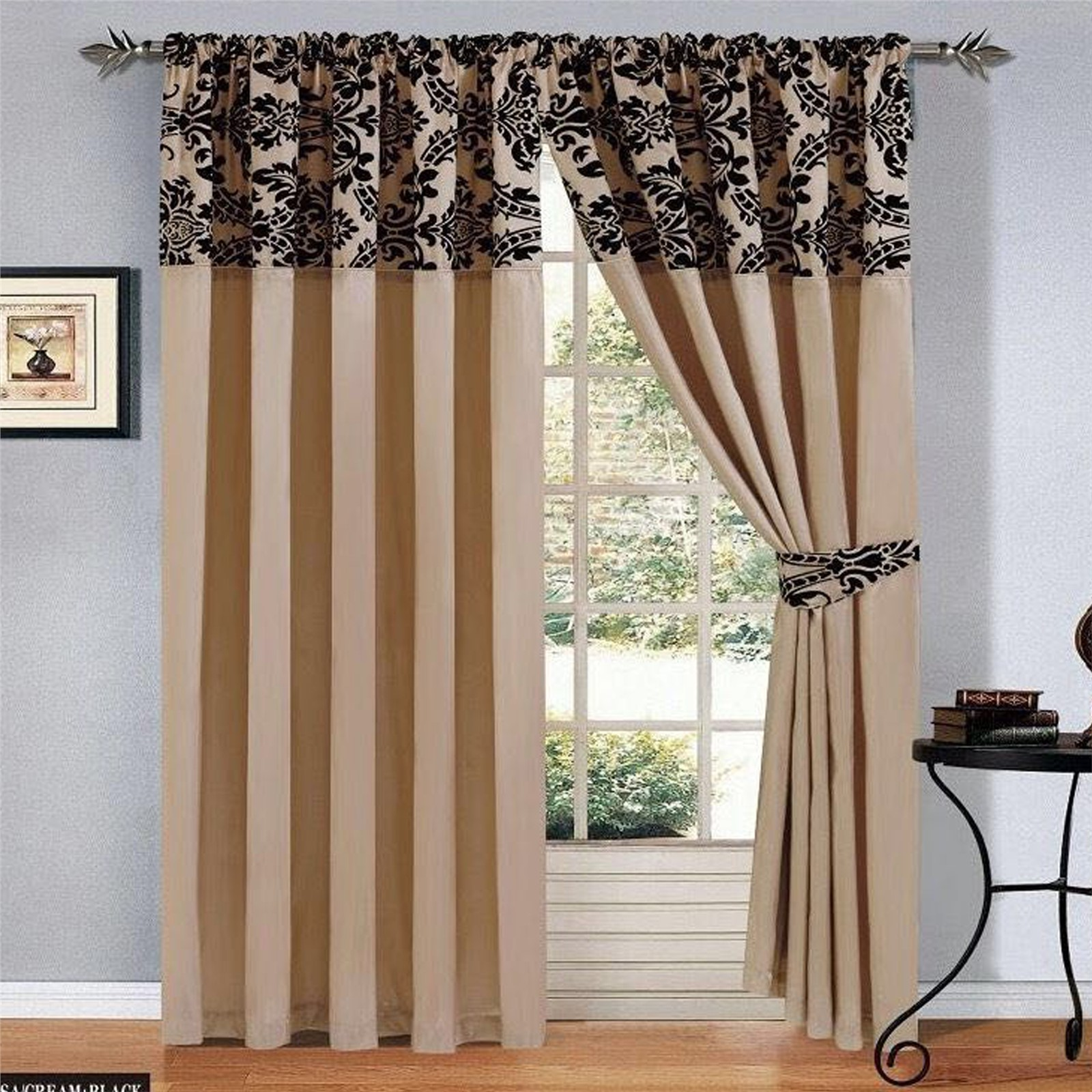 geometric and black details textiles kato lined cream s eyelet fully chevron ring curtains grey top tony products