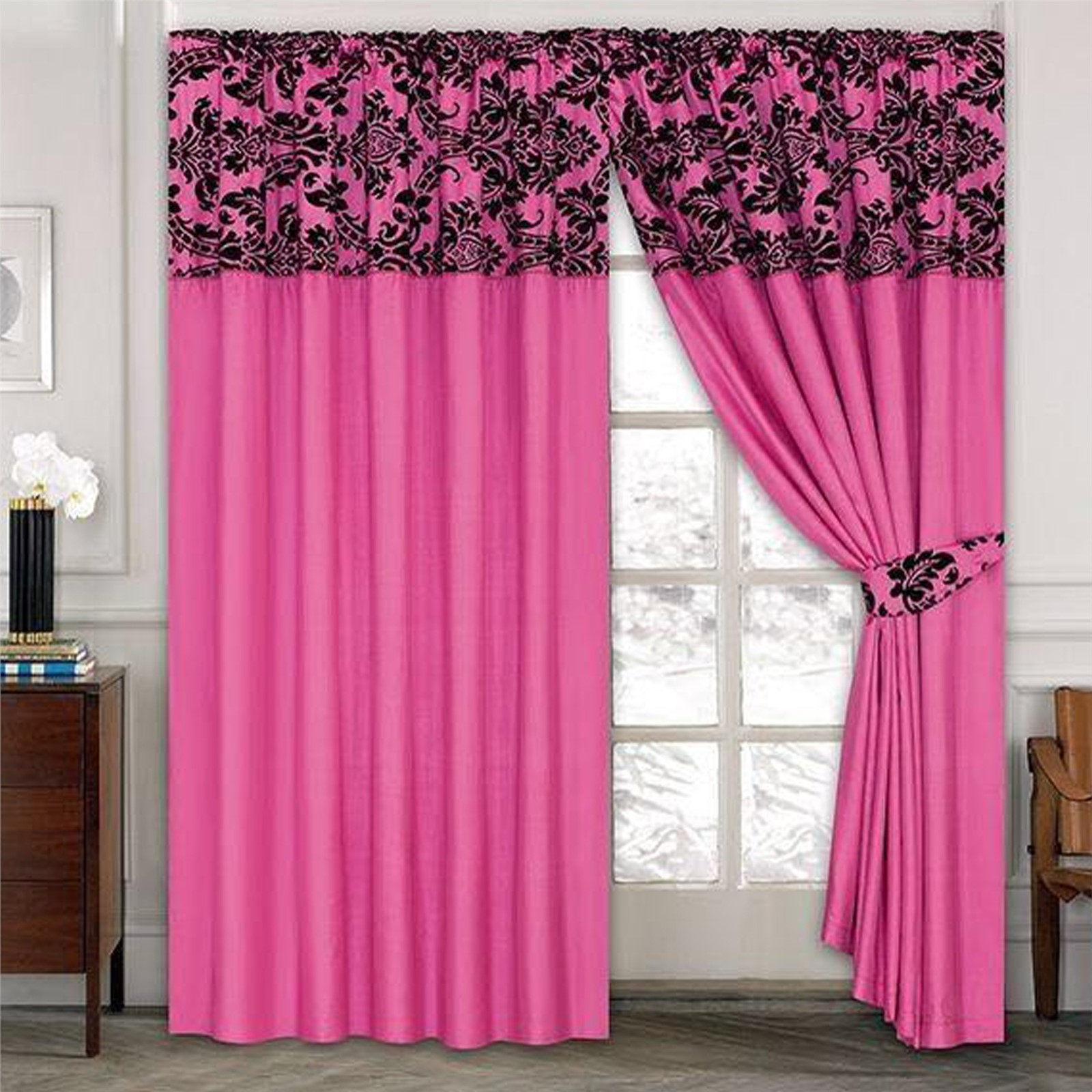 damask black curtains white drapes ideas windowpane new p sheer curtain ikea plaid check and