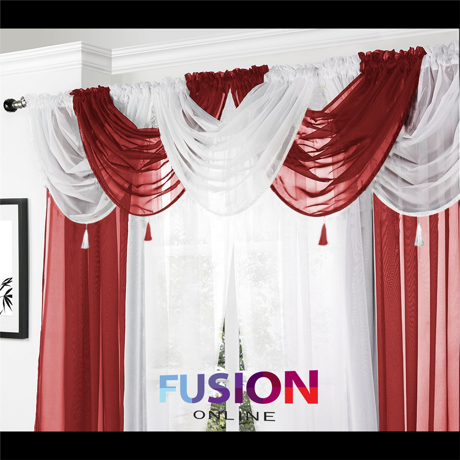 wine coverlet valance category curtains piper department campbell product valances burgundy straight classics with lined