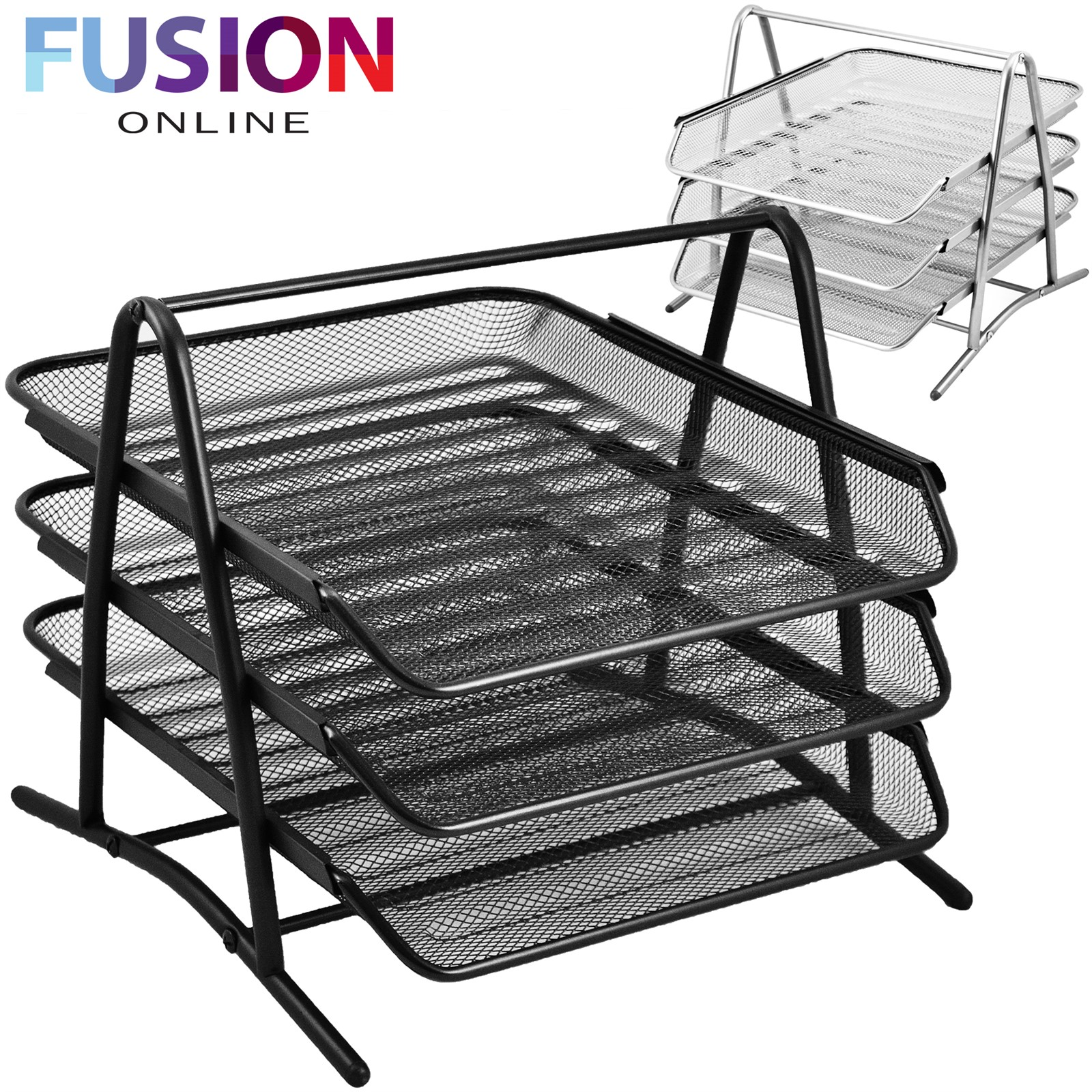 3 TIER A4 OFFICE DOCUMENT TRAY LETTER PAPER ORGANISER STORAGE FILING ...