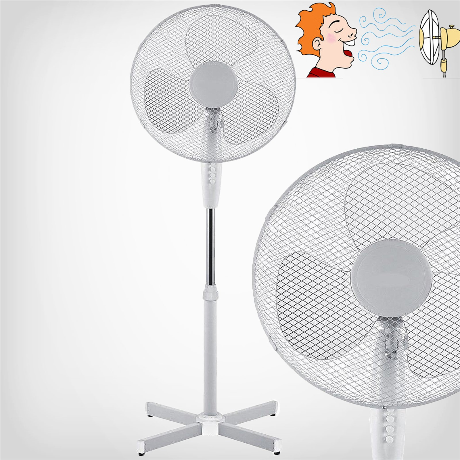 Desk Tower Fan : Electric oscillating fans extandable tower desk standing