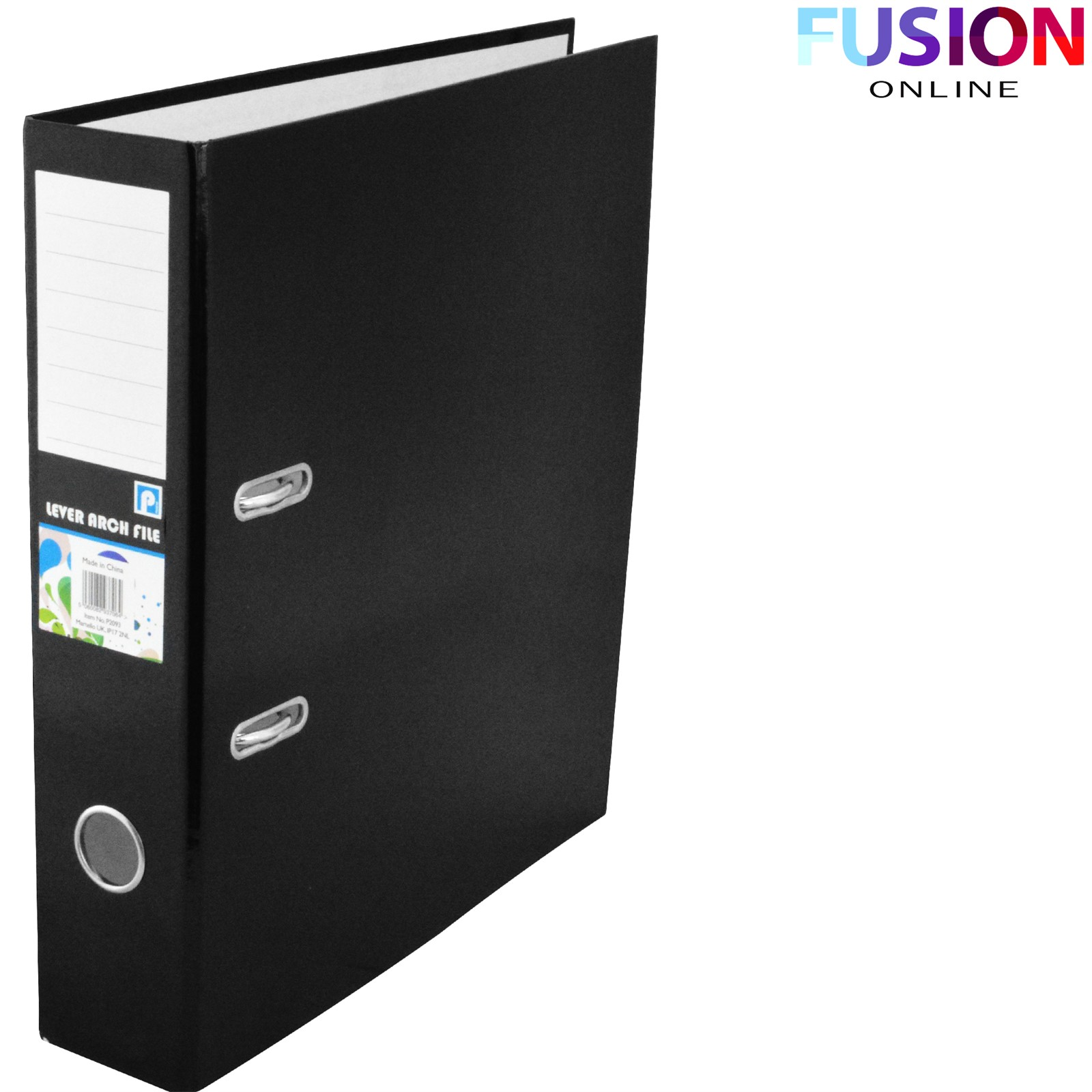 A4 PREMIUM LEVER ARCH FILES OR FOLDER RING BINDER BLACK