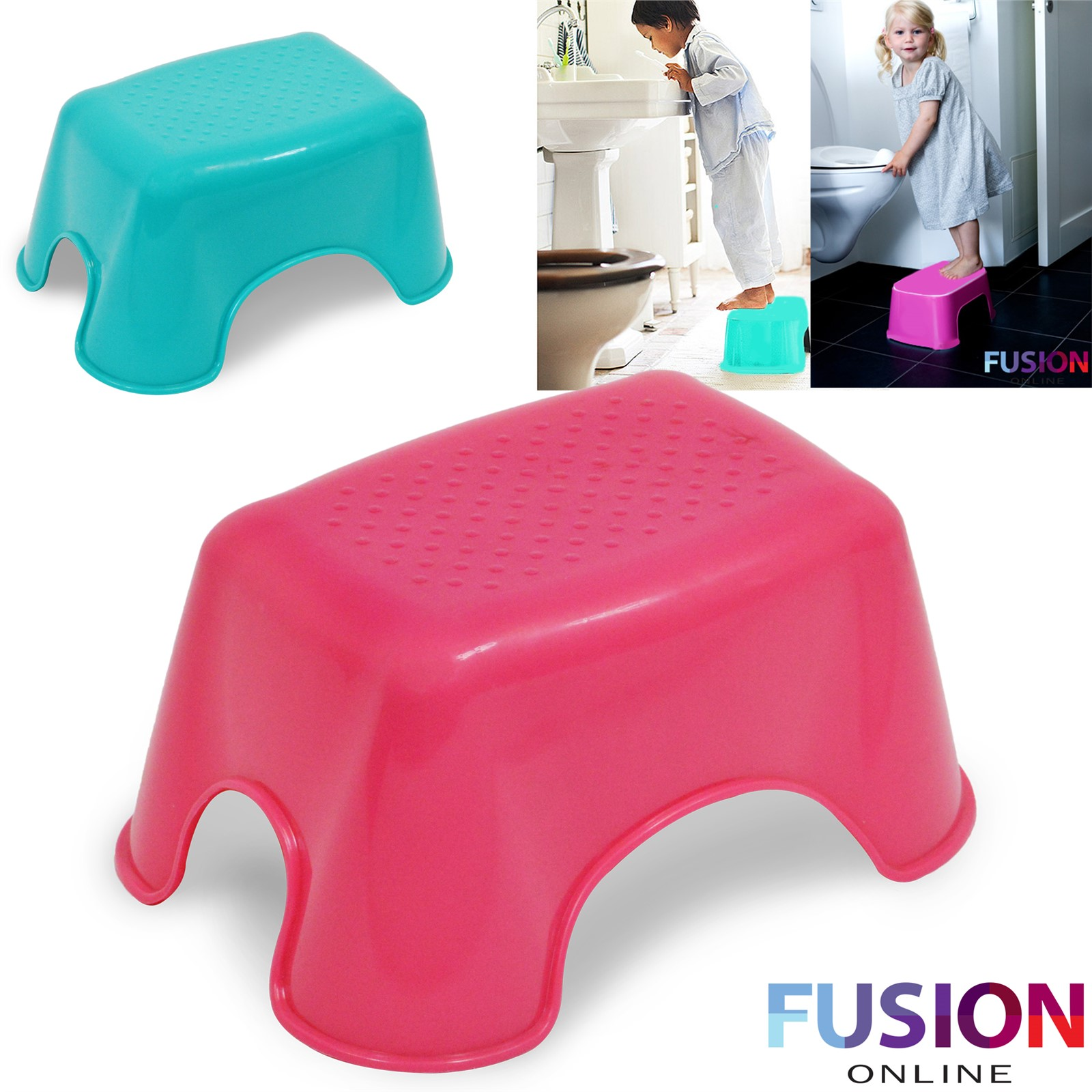 kids step stool sturdy bathroom home toilet multi purpose plastic children stool