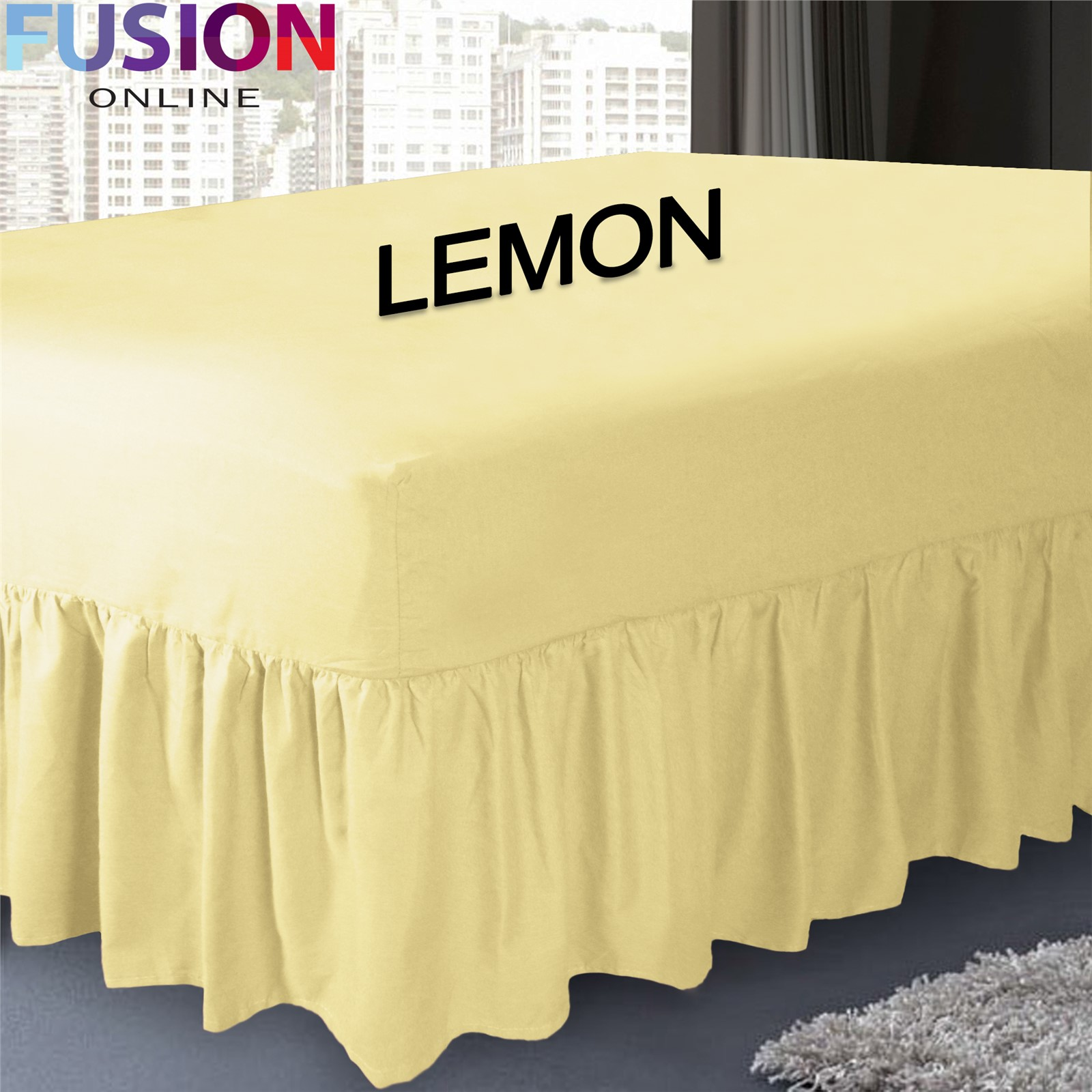 Plain Fitted Valance Sheet Dyed Poly-Cotton Bed Sheet ...