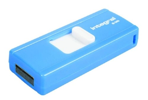 INTEGRAL SLIDE USB PEN DRIVE MEMORY STICK PORTABLE FLASH KEY BLUE for PC LAPTOP