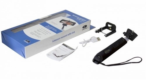 sumvision selfie stick monopod black 90cm bluetooth wireless iphone camera ph. Black Bedroom Furniture Sets. Home Design Ideas