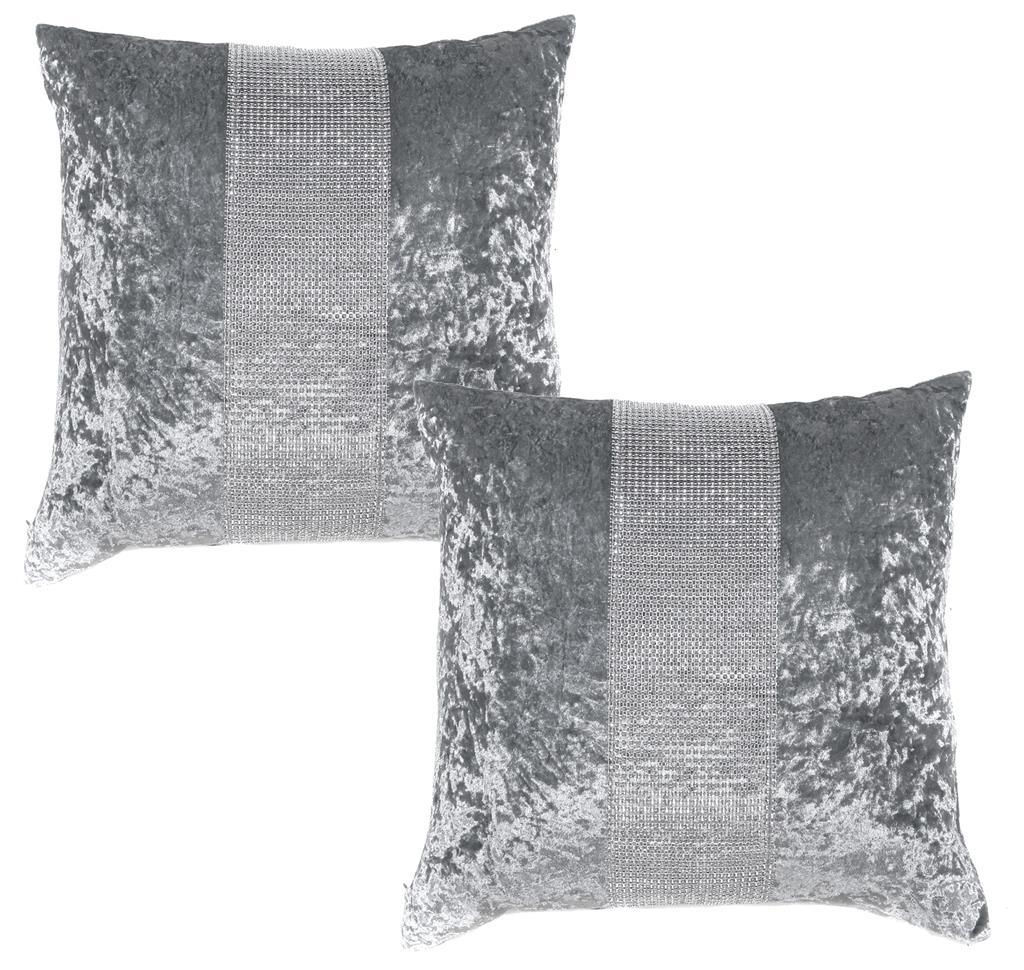 Diamante Amp Crushed Velvet Bed Runner Amp Cushion Cover