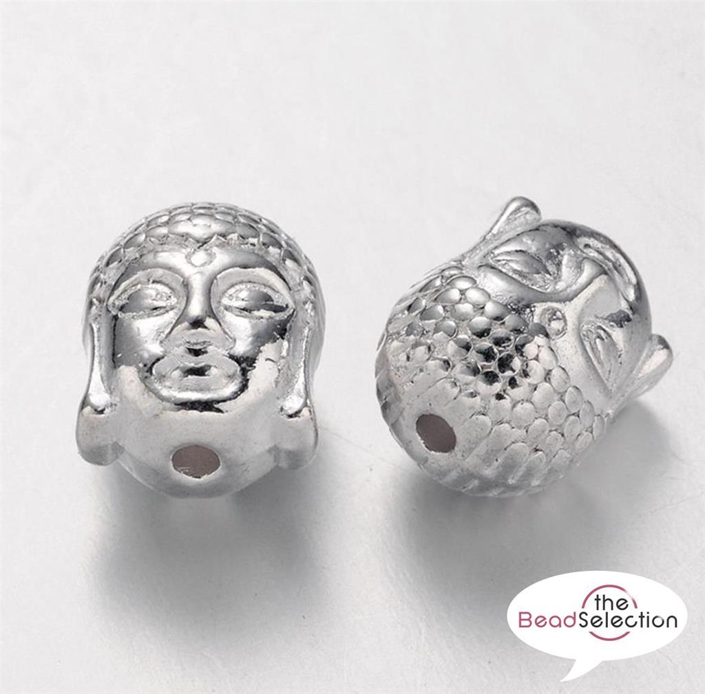 20 Tibetan Silver Buddha Spacer Beads Charms 14 mm Top Qualité TS46