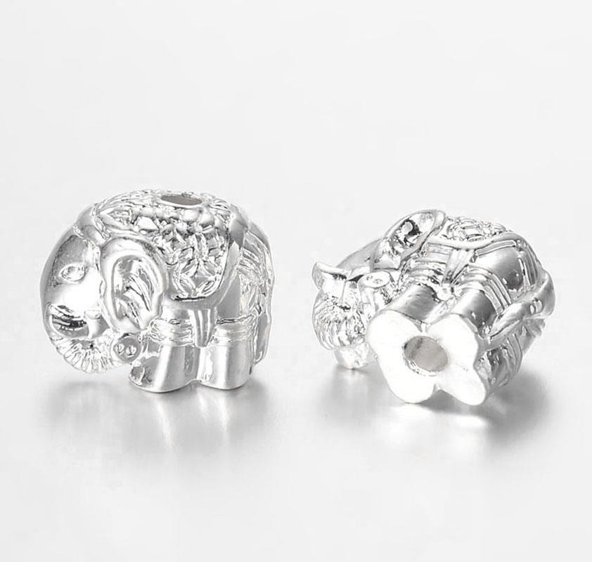 50 per bag 12mm SNOWFLAKE SPACER BEADS SILVER PLATED