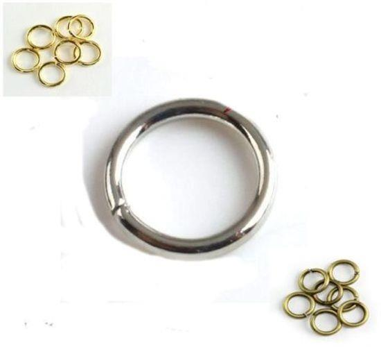 TOP QUALITY JUMP RINGS 4mm 5mm 6mm 7mm 8mm 9mm 10mm VERY STRONG 1 MM orSTD 0.7mm