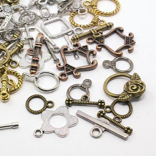 10 PER BAG 21mm x 21mm 2 HOLE TOGGLE CLASPS GOLD PLATED