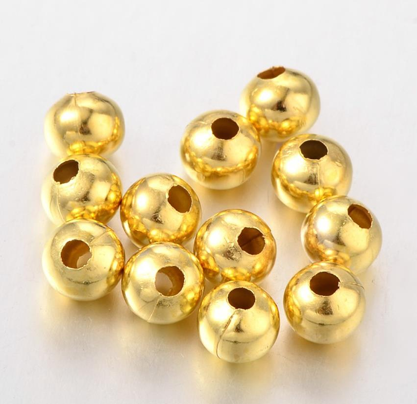 GOLD PLATED TS61 500x 2mm 400x 3mm 300x 4mm ROUND SPACER BEADS SILVER