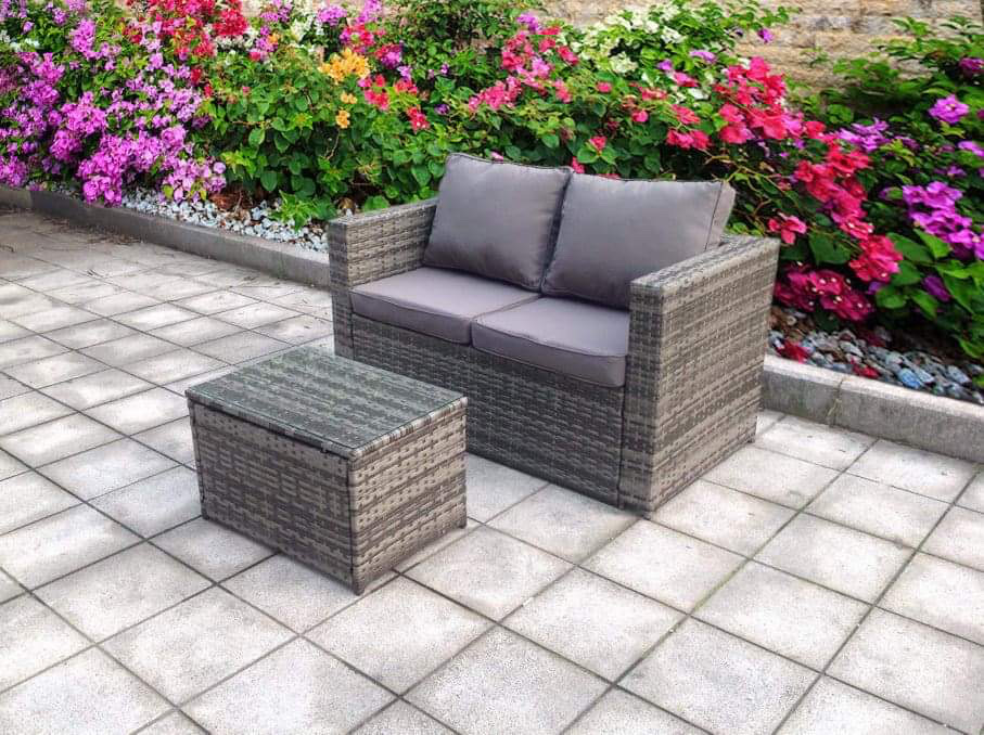 Clone of NEW TWIN RATTAN WICKER CONSERVATORY OUTDOOR GARDEN ...